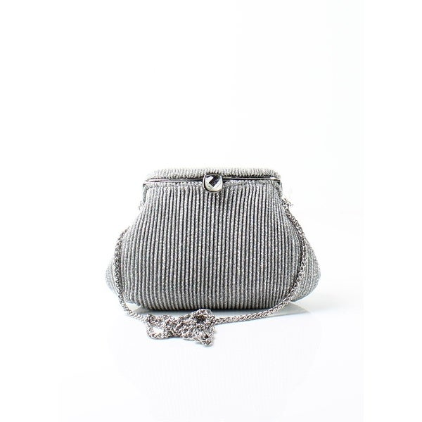 7dedf9f8dc Shop Adrianna Papell NEW Silver Sheryl Small Clutch Glitter Evening ...