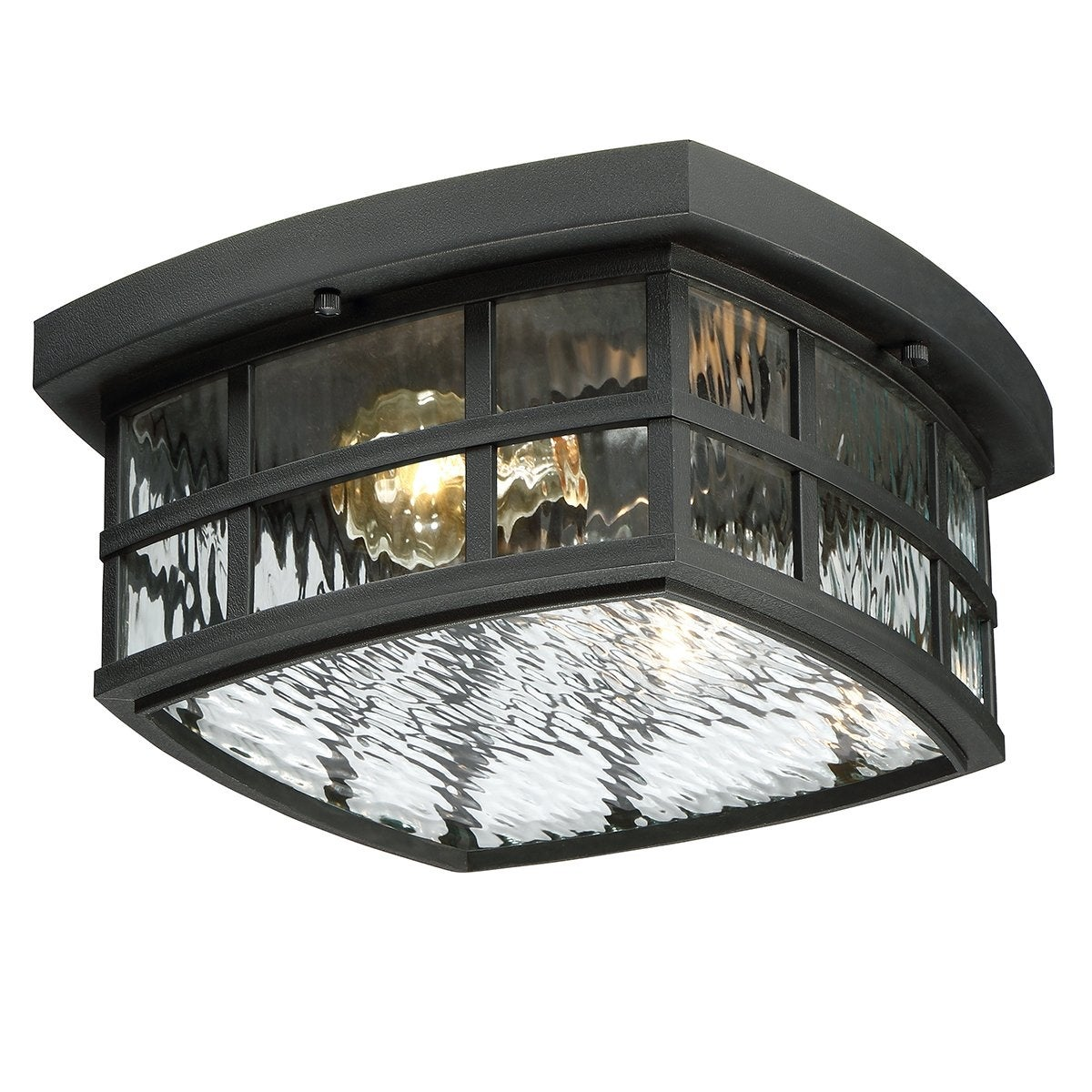 Luxury Craftsman Outdoor Ceiling Light 5 75 H X 12 W With Tudor Style Highly Detailed Design Black Silk Finish Overstock 19477822