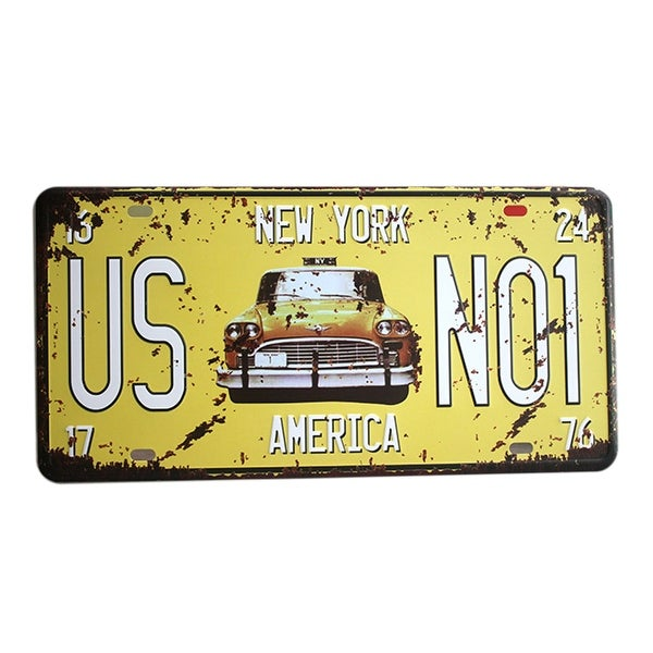Shop America Vintage Car Plate Wall Hanging Decoration M13 - Free ...