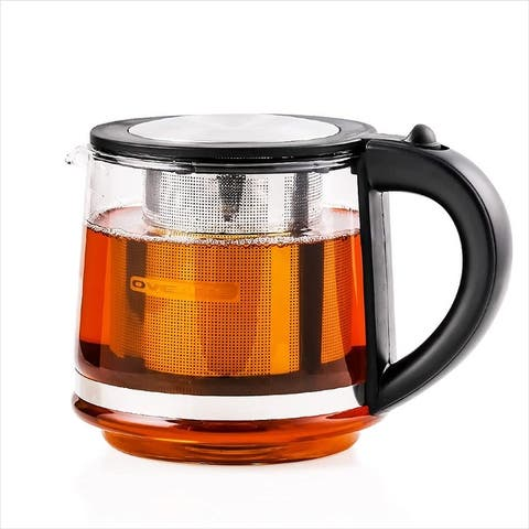 Ovente 27 Ounce Reusable Loose Leaf Tea Infuser Well Matched with Kettle KG612S, Black FGK27B - 27 ounces