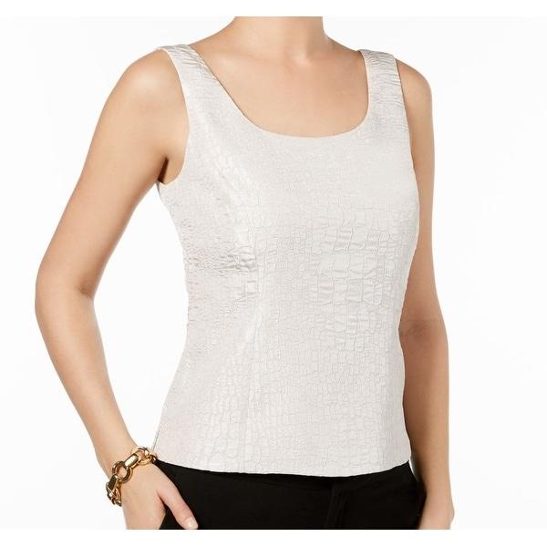 03b3af26f6ec78 Shop Kasper Beige Champagne Women s Size 16 Jacquard Shell Tank Top ...