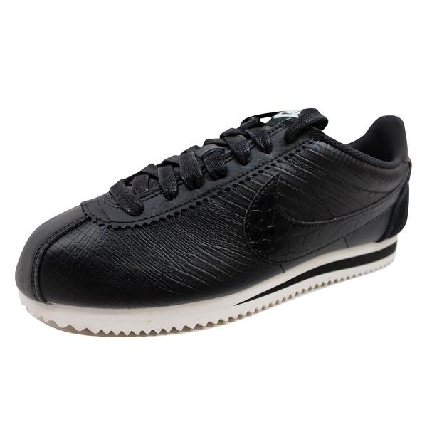 Nike Women's Classic Cortez Leather Premium Black/Black-Ivory 833657-005