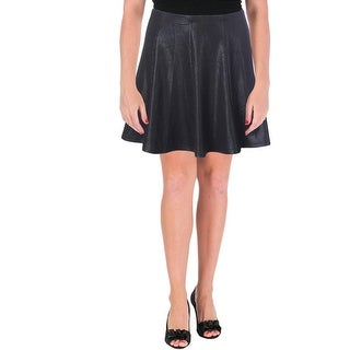 Aqua Womens Juniors A-Line Skirt Pull On Solid - L