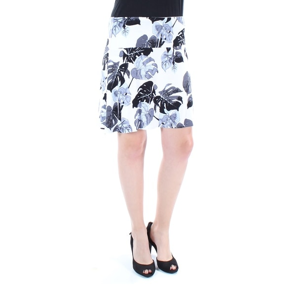 29be92a5e52d0 Shop KENSIE Womens White Floral Above The Knee Pencil Skirt Size  S - Free  Shipping On Orders Over  45 - Overstock.com - 23467300