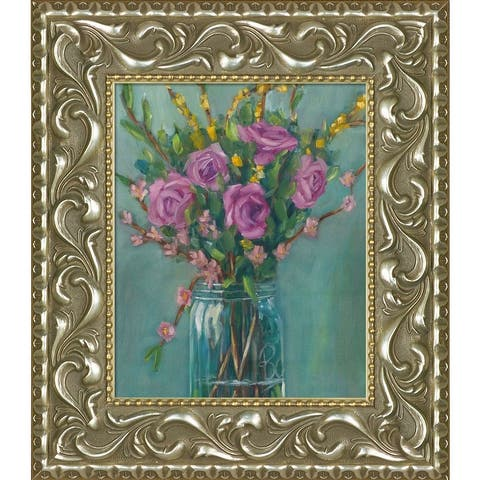"ArtistBe Spring Blossoms with Mediterranean Bronze Frame, 30"" x 34"""