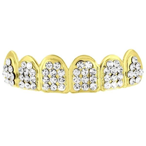 Shop Top Teeth Grillz Lab Diamonds Yellow Gold Finish
