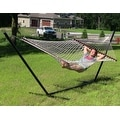 Sunnydaze Cotton Double Wide Rope Hammock with Spreader Bar - Thumbnail 4