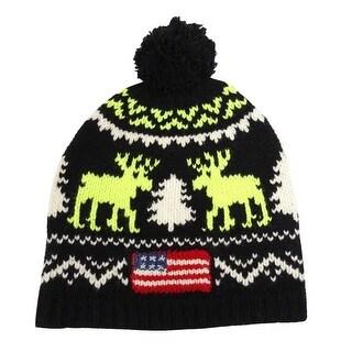 Polo Ralph Lauren Men's Reindeer Wool Cap (Black OS) - Black - os