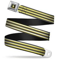 Voltron Belt Star Full Color Black Yellow Voltron Belt Stripe Gray Black Seatbelt Belt