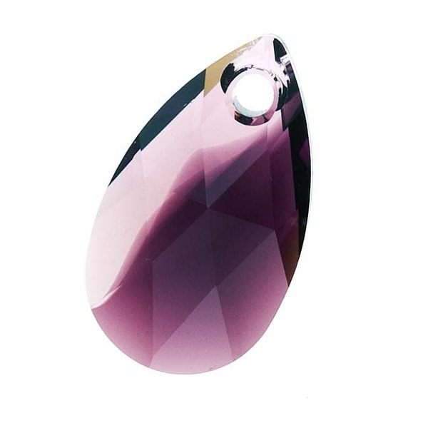 Swarovski Crystal, 6106 Pear Pendant 16mm, 2 Pieces, Amethyst Blend