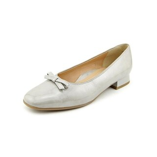 Ara Blake Women N/S Round Toe Patent Leather Gray Flats