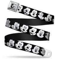 Mickey Mouse Face2 Close Up Full Color Black White Mickey Mouse Expressions Seatbelt Belt