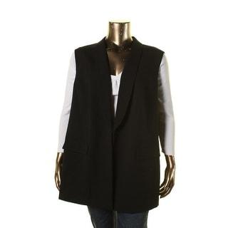 Tahari ASL Womens Plus Louisa Solid Collar Suit Vest - 22W