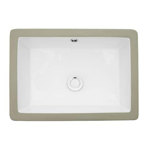 "22"" x 16"" Rectangle Bathroom Vessel Sink"