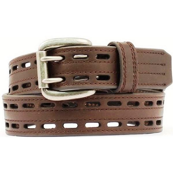 Nocona Western Belt Mens Leather HD Extreme Double Hole Mocha