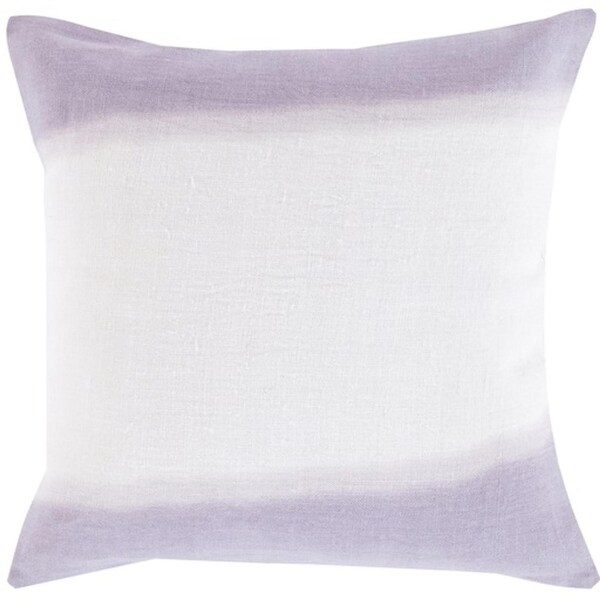 "18"" Lavender and White Double Dip Decorative Throw Pillow"