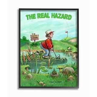 Link to Stupell Industries The Real Hazard Funny Golf Cartoon Sports Design Framed Wall Art Similar Items in Canvas Art