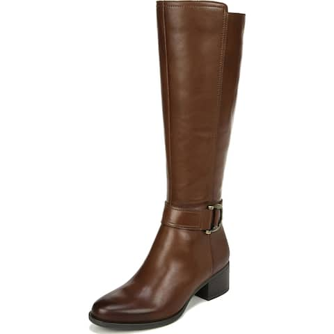 Naturalizer Womens Kelso Riding Boots Wide Calf Leather