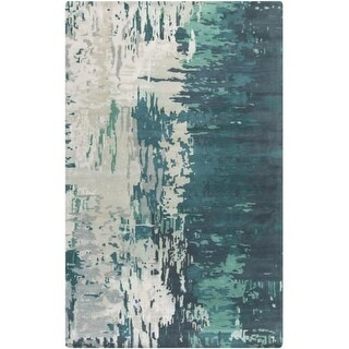 Surya BAN3343-23 Banshee 2' x 3' Rectangle Wool Hand Tufted Contemporary Area Ru - Blue