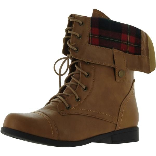 Bumper Freda03x Women's Combat Boots