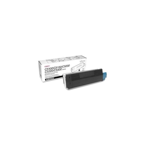 OKI 42804504 Oki Type C6 Black Toner Cartridge - Black - LED - 3000 Page - 1 Each