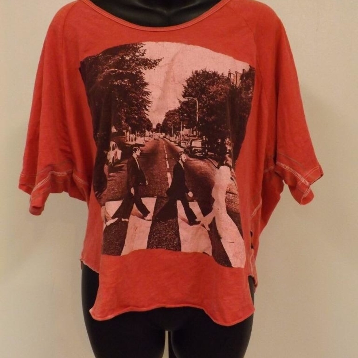 New The Beatles Womens Sizes S-M-L Loose Crop Top Shirt by Trunk