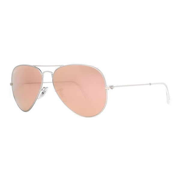 Ray Ban RB 3025 019/Z2 58mm Silver Copper/Pink Flash Lens Aviator Sunglasses - 58mm-14mm-135mm