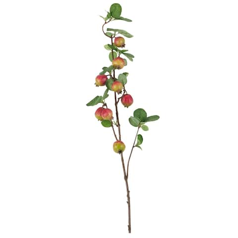 Pomegranate Branch Design Artificial Décor - Red