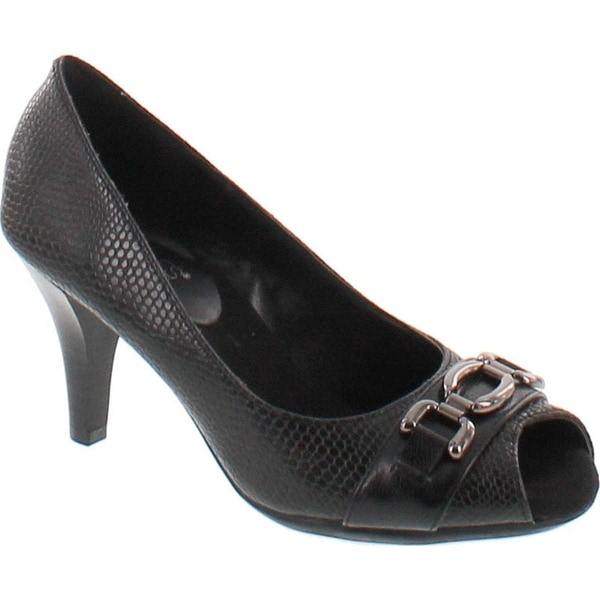 Aerosoles Women's Good Lux Dress Pump - Black Snake