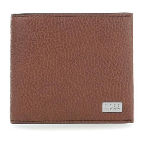 Boss Hugo Boss Crosstown 8cc Wallet Leather Men Cognanc