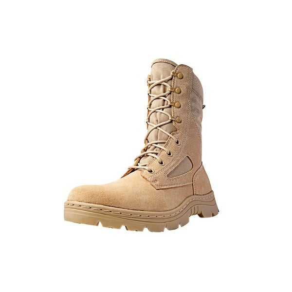 "Ridge Tactical Boots Men Dura-Max Desert Zipper 8"" Shaft Sand"
