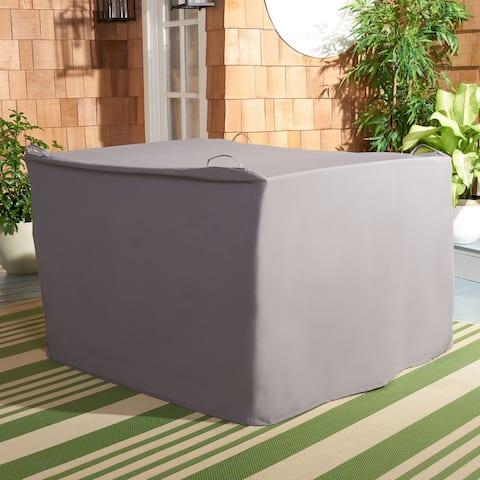 "Safavieh Outdoor Living Burbank 4-Piece Set Grey Cover - 47.2"" W x 48"" L x 33.5"" H"