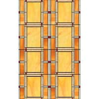 Brewster 346-0437 Arts And Crafts Stained Glass Window Film - arts and crafts stained glass