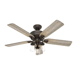 "Link to Hunter 52"" Devon Park Ceiling Fan with LED Light Kit and Handheld Remote Similar Items in Ceiling Fans"