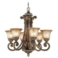 Dolan Designs 2400 6-Light Up Lighting Chandelier from the Carlyle Collection - verona - n/a