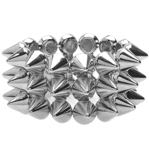 Wide Spiked Bracelet (Silver) - Exclusive Beadaholique Jewelry Kit