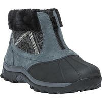 Propet Women's Blizzard Ankle Zip II Boot Black/Aztec Knit Leather/Nylon