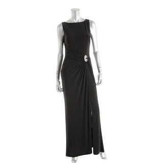 Lauren Ralph Lauren Womens Evening Dress Embellished Ruched