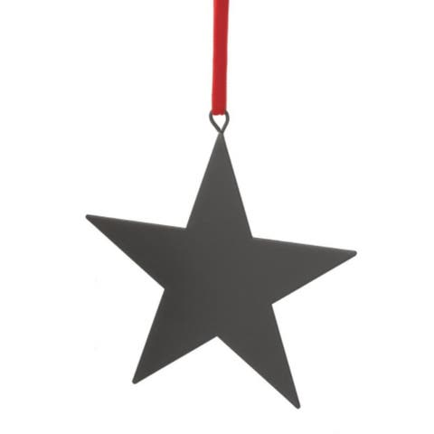 """6"""" Black Chalkboard-Finished Star Christmas Ornament for Personalization - N/A"""