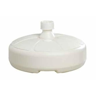 "Adams 8129-48-3750 Resin Umbrella Base, 14.5"" x 5.5"", White"