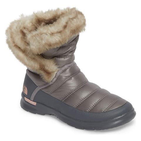 The North Face Womens Thermoball Microbaffle Bootie II Round Toe Ankle Cold W...