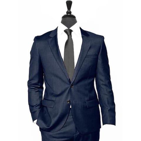 2 Button Dark Navy Blue Suit For Men Vested 3 Pieces Summer Linen Wedding/Groom/Groomsmen Suit Jacket & Pants & Vest Suit