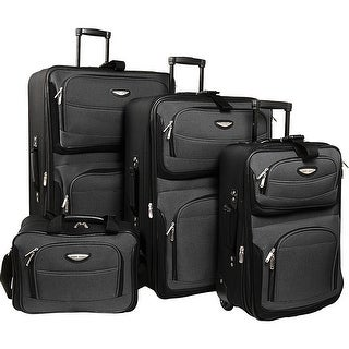 Traveler's Choice Amsterdam 4-Piece Luggage Set - Grey
