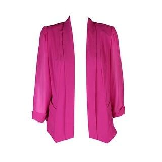 City Chic Plus Size Pink Chiffon-Sleeve Blazer XS-14