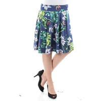 AMERICAN LIVING Womens Blue Floral Knee Length Circle Skirt  Size: S