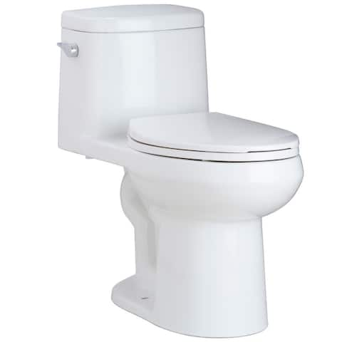 Mirabelle MIRSR241 Sarasota 1.28 GPF One-Piece Elongated ADA Height Toilet - with Soft-Close Seat - White
