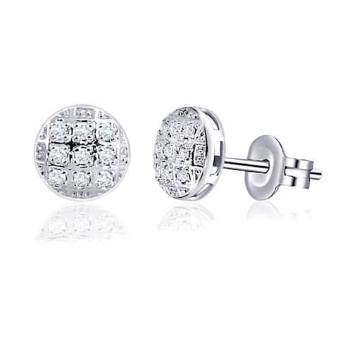 Moissanite Sterling Silver Round Stud Earrings by Sparklezz Jewelry