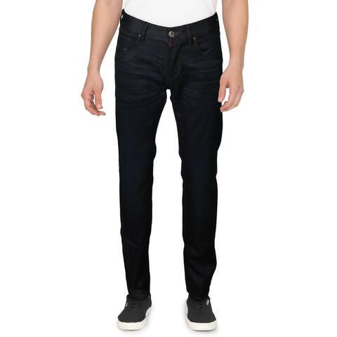 Robert Graham Mens Jeans Denim Whisker Wash - Indigo