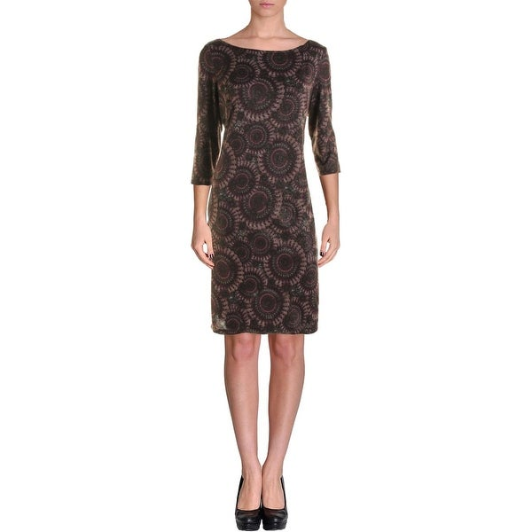 Nine West Womens Wear to Work Dress Printed Metallic