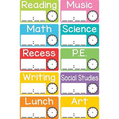 Tnt magnetic schedule cards 10448